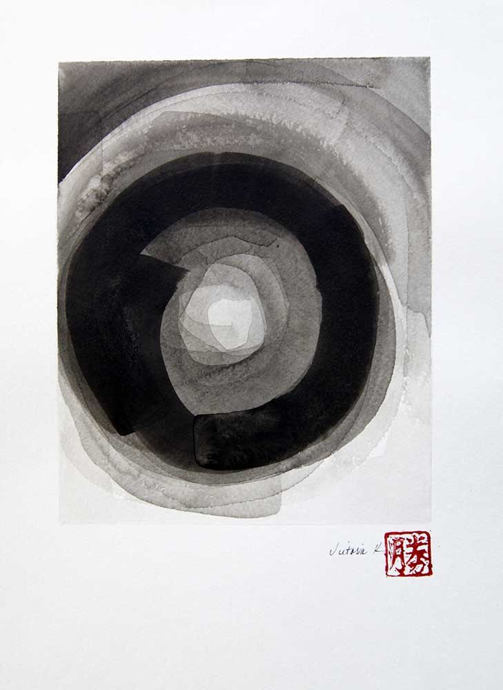 Ink wash 3 - victoria kloch - sold