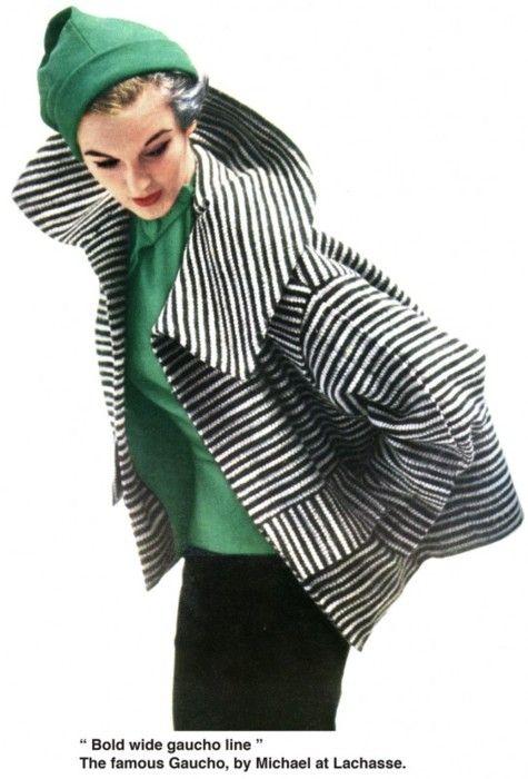 Vintage Vogue, 1952 - love the stripes going both ways