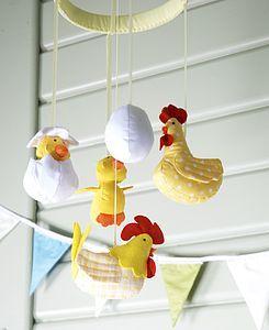 Cute Hen Cot Mobile