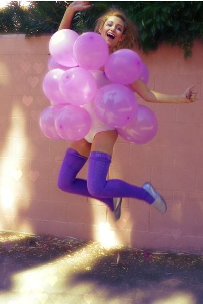 grapes costume.    tights from american apparel  Toms shoes