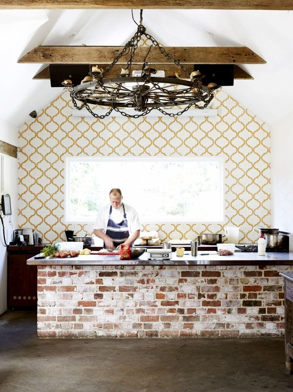 Just look at this kitchen - wall tiles and exposed brick! Newrybar_HarvestShannon-1
