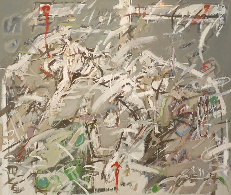 Title: Compozitie IV / Size: 210x180cm / Style: Oil on Canvas / Year: 1994