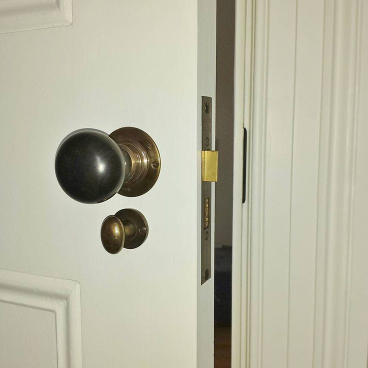 Mother Of Pearl Indian ebony knob handles on a Jacksons privacy lock. Installed by The Tidy Tradie - Lock Carpenter.  #tidytradie_lockcarpenter #MotherOfPearl #motherofpearltrading #MOP #jacksons #jacksonsaustralia #lockcarpenter #lockinstaller #lockinstallation #lockfitting #morticelock #doorlock #doorhardware #doorfurniture #sydneylockinstaller #lockfittingservice