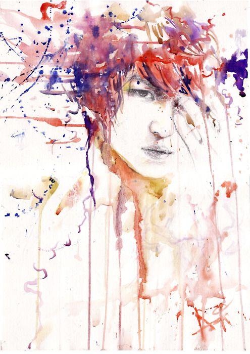 Line Art Watercolor : Best images about watercolor pencil art on pinterest