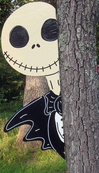 jack nightmare before christmas peeker halloween yard art decoration - Halloween Yard Ideas