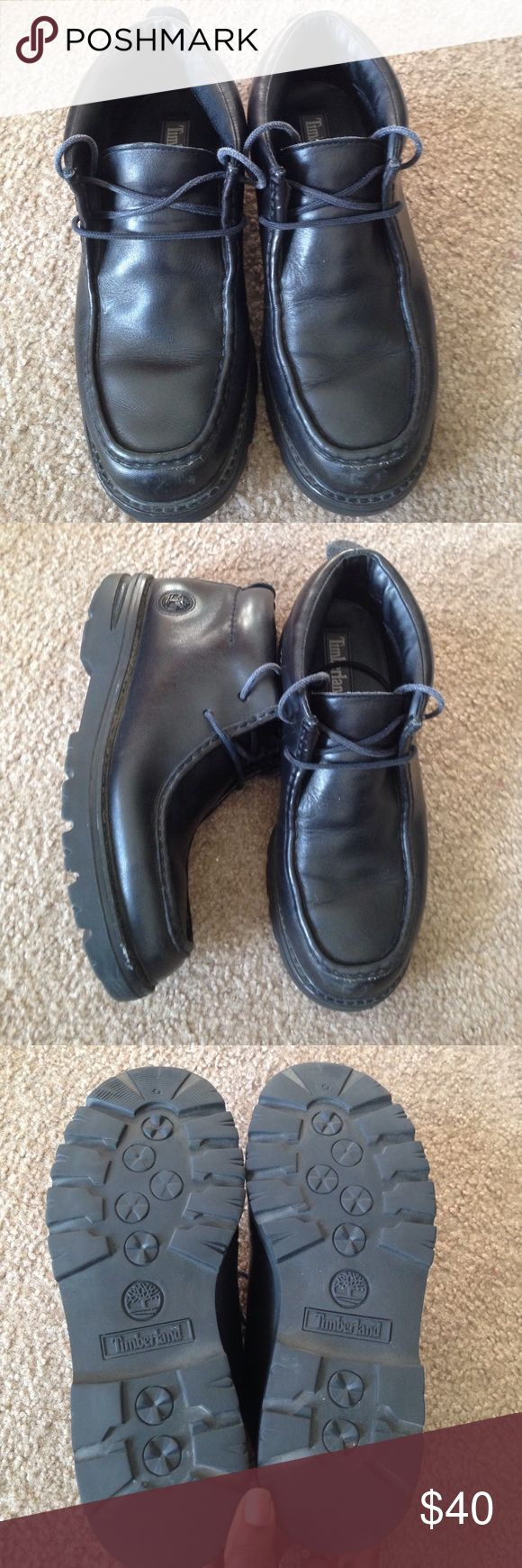 Used Men's Timberland boots Black leather Timberland boots - used but in good condition (slight toe scuff - pic #4) Timberland Shoes Boots