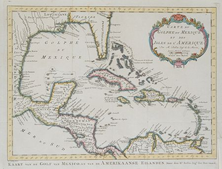 FairWinds Antique Maps - Item # gg1705: Carte du Golphe de Mexique et des Isles de l'Amerique/Kaart van de Golf van Mexico