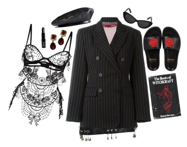 """""""Salem"""" by c-fern ❤ liked on Polyvore featuring Moschino, G.V.G.V., Versace, Elizabeth and James, BUSCEMI, Belle Et BonBon, Gucci, Lord & Berry and vintage"""