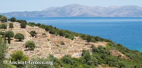 Ramnous or Rhamnus or Rhamnounda is and ancient Greek fortified town, located on the Attica coast, about 55 kilometers northeast from Athens. It was named for the local prickly bush called ramnos and was the most important sanctuary of Nemesis in ancient Greece.