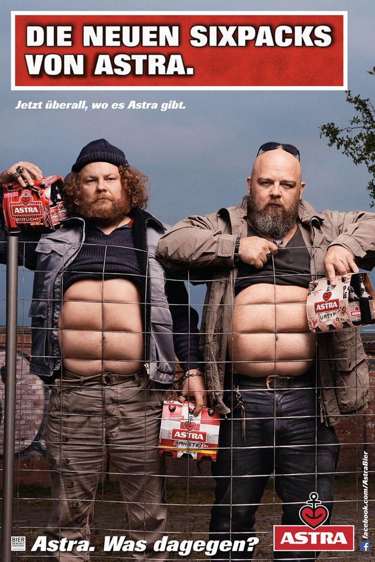 Das neue Werbemotiv von Astra Bier