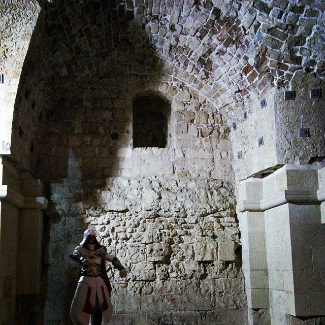 I read in Altaïr's journals that the Templars used this fortress as some sort of sordid hospital during the crusades #Acre #Israel #TemplarFortress #GarnierDeNaplouse #KnightsHospitallier #AltairsFootsteps