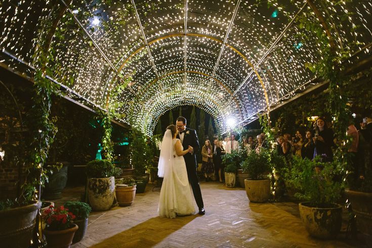 The Grounds of Alexandria. First dance under the fairy lights. Image: Cavanagh Photography http://cavanaghphotography.com.au