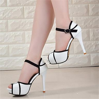 Loving the classy design from this stiletto heels with an open toe! Like it? Click for more details.