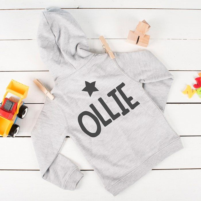 Personalised Baby's Hoodie - Star Name | GettingPersonal.co.uk