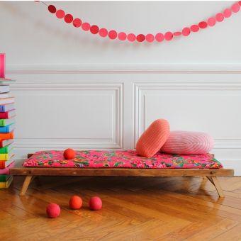 Banquette enfant - Rose - Fresh & Vintage pour Les Enfants du Design
