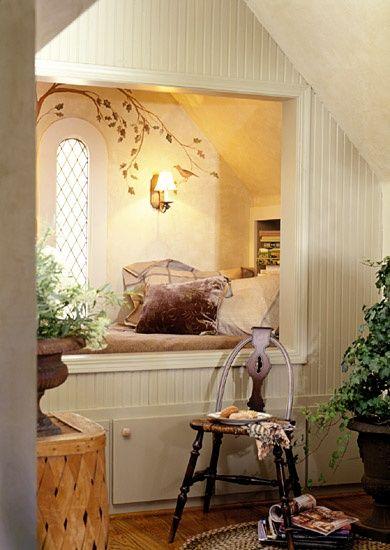 Глаз Дизайн: Альков кроватями ...... Сделайте номер на одного в вашем доме