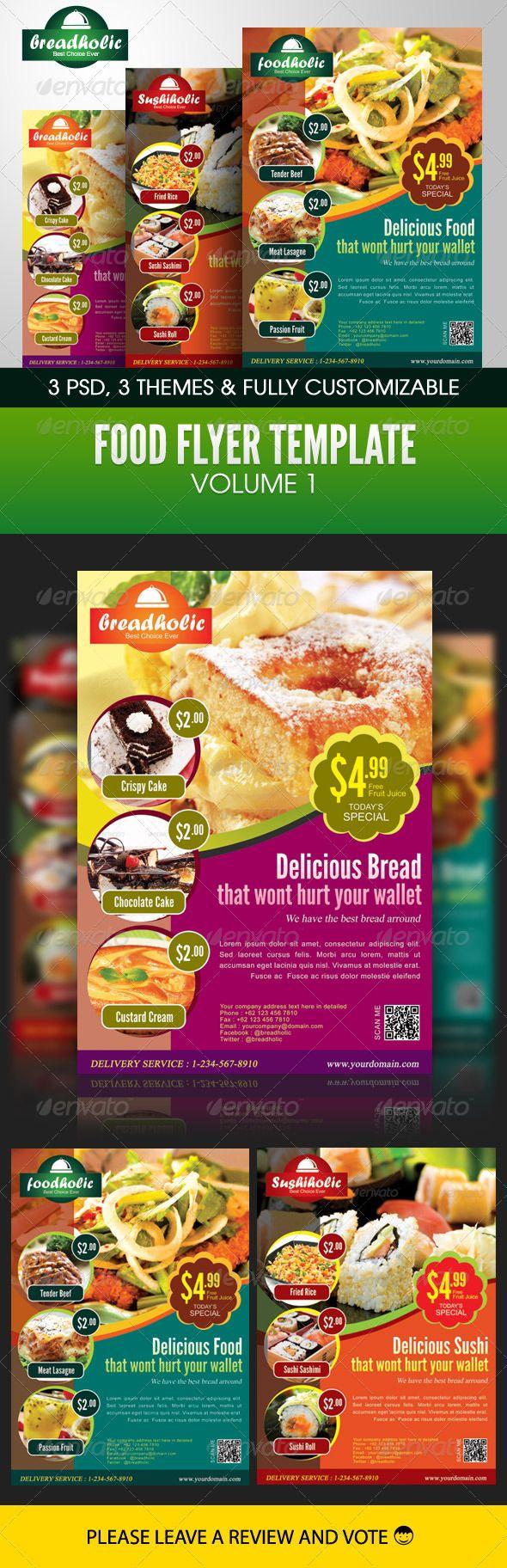 Food Flyer Template Volume 1