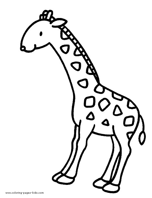 Giraffe color page, animal coloring pages, color plate, coloring sheet,printable coloring picture