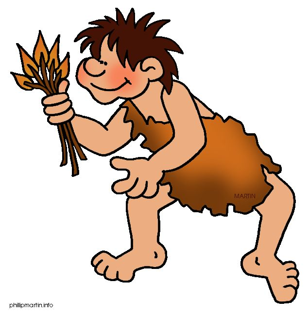 Free Early Human Clip Art by Phillip Martin, Fire