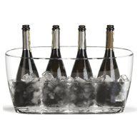 Bernice Koelemmer Jeroboam waarin 4 wijn- of champagneflessen van 75cl tegelijkertijd in gekoeld kunnen worden.
