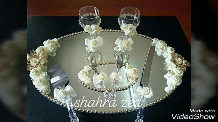تزيين صينية الخطوبة على شكل مرٱة بيضوية الشكل Wedding Cups Cake Cutter Wedding Baby Girl Room