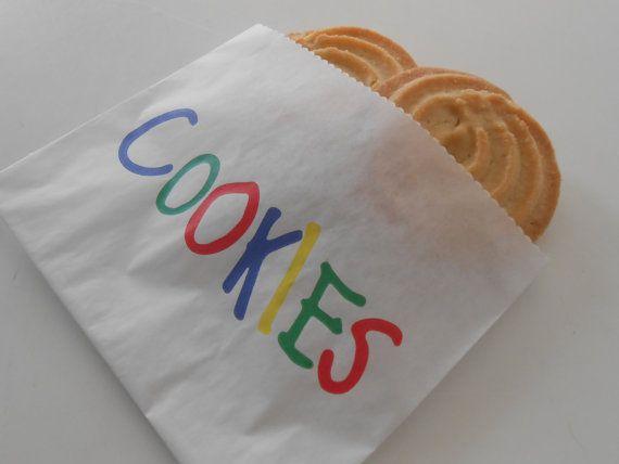 Cookie Bags / Paper Cookie Bag / Treat Bags / by partysupplyshack, $5.90