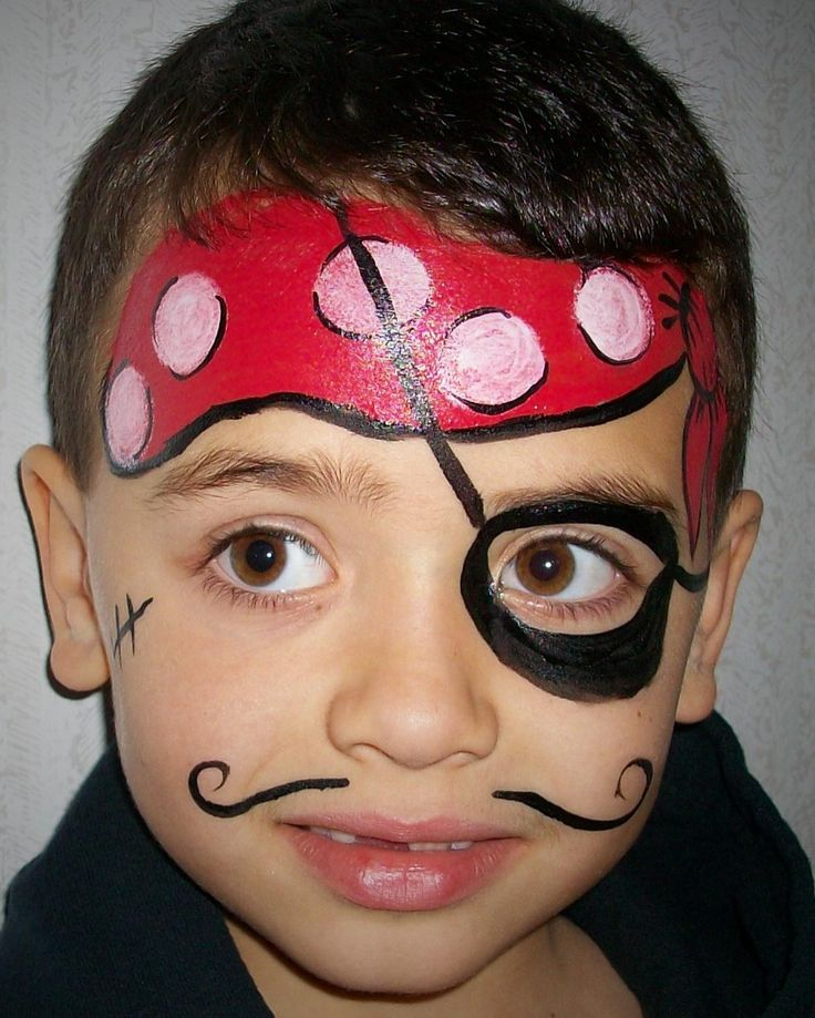 Pirate face paint | Wreck 'em | Pinterest