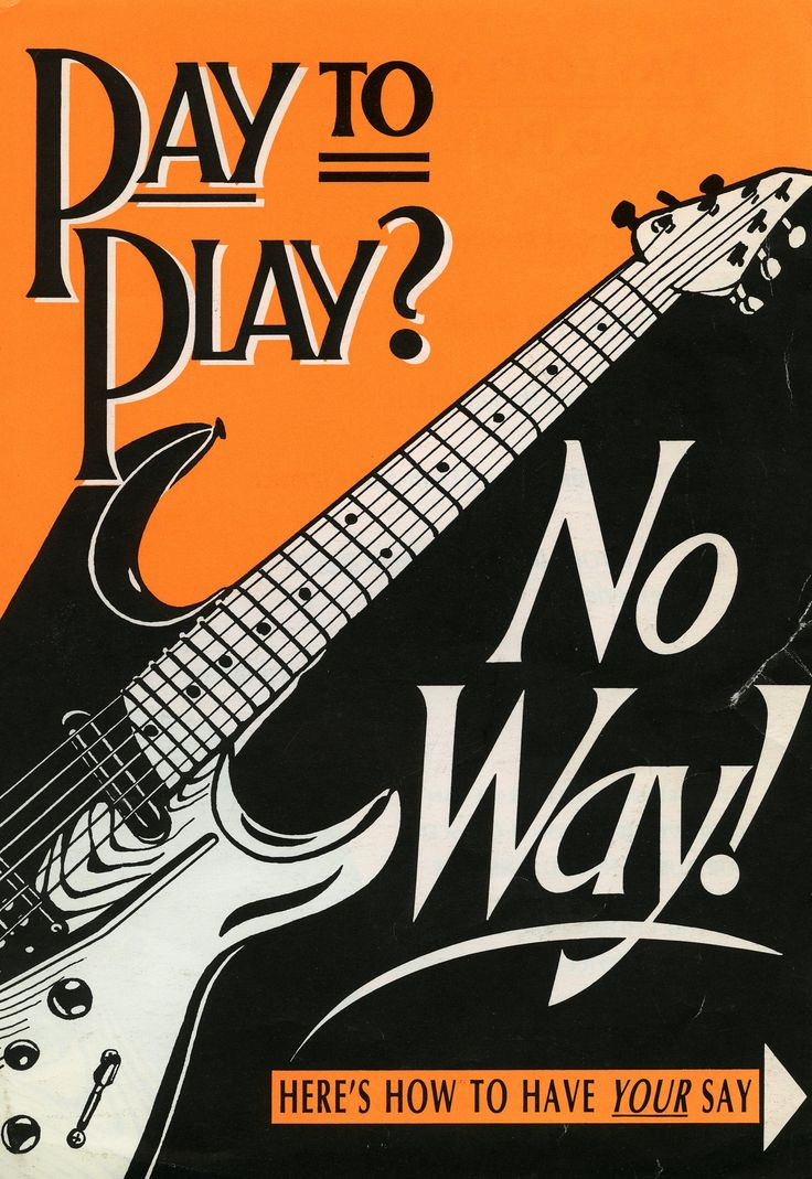 Pay to Play flyer