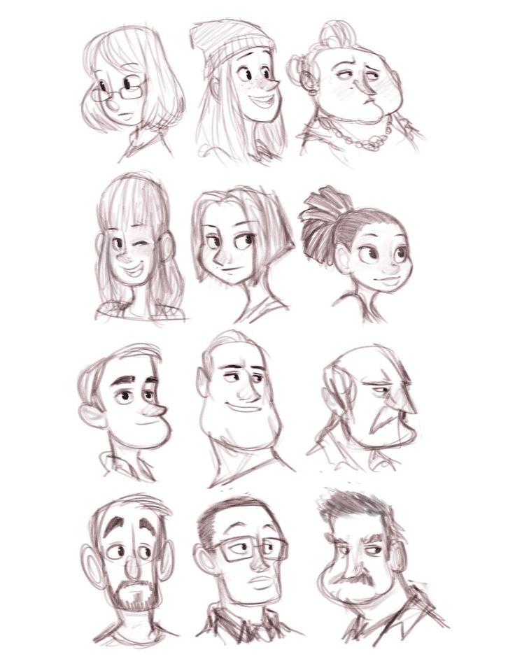 Character Design Head Shapes : Beste ideeën over cartoon gezichten op pinterest