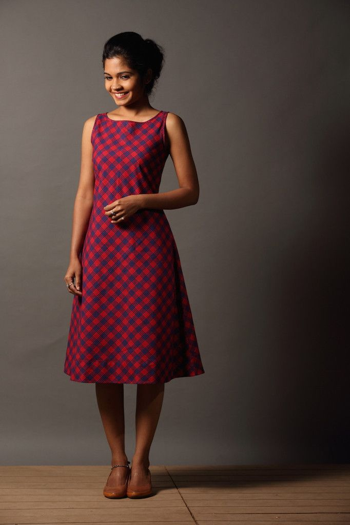 Kavaya Thuni Dress - Red