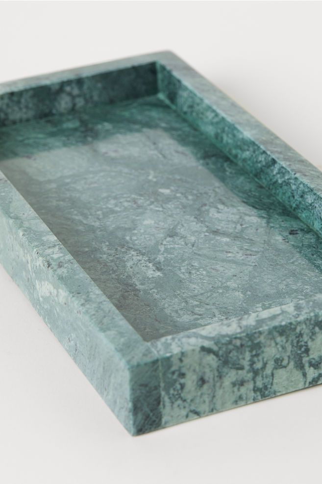 Marble Tray Dark Green Marble Home All H M Us Dienblad Groen Voor Het Huis