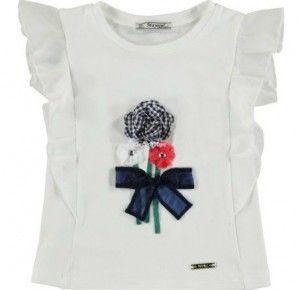 MAYORAL koszulka kwiaty 3d