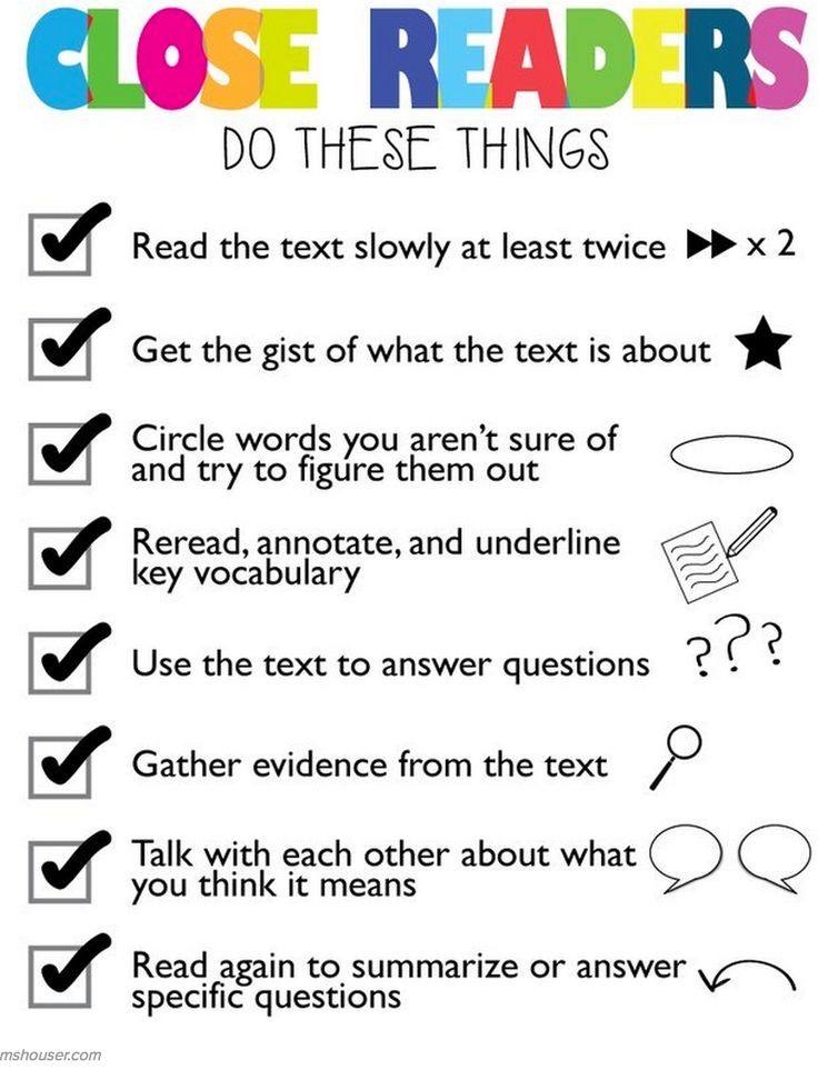 20 Charts to Help You Teach Close Reading