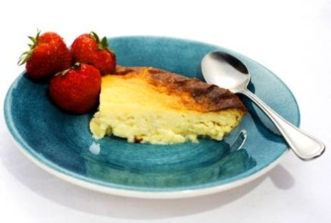 """Ostkaka - Swedish Cheese Cake that is less creamy/sweet and more dry and """"filling"""" usually eaten with preserves"""