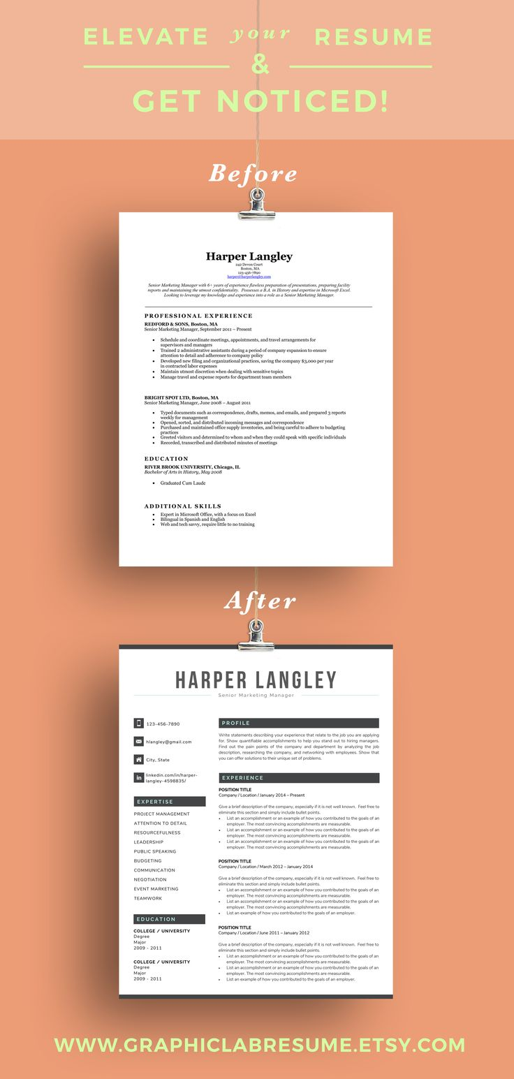 This modern resume template for Word helps you get noticed