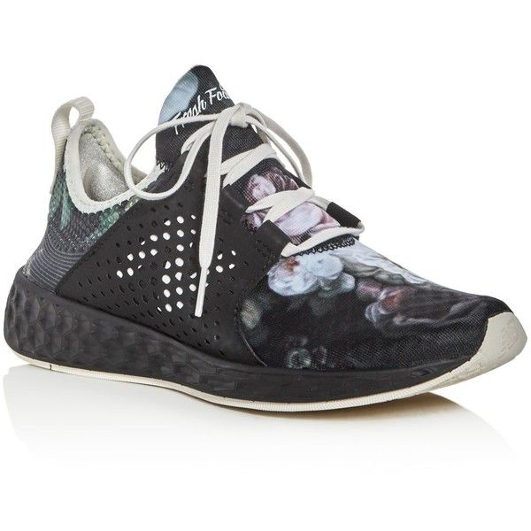 New Balance Women's Fresh Foam Cruz Lace Up Sneakers (1,720 EGP) ❤ liked on Polyvore featuring shoes, sneakers, black, new balance trainers, laced up shoes, new balance sneakers, black lace up shoes and laced shoes