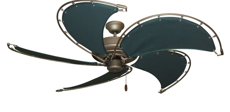 28 best nautical fans images on pinterest nautical sailor and raindance antique bronze nautical ceiling fan w52 spring frame fabric blades in green aloadofball Images
