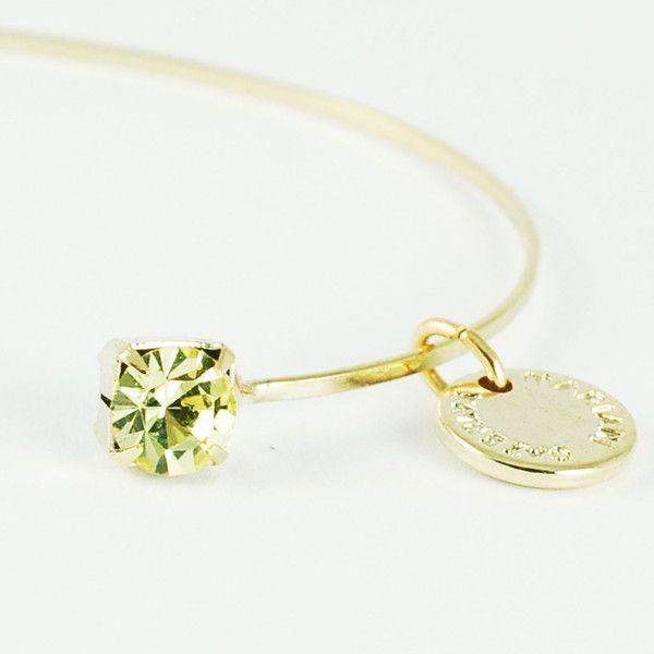 CATERINA MARIANI BIJOUX Swarovski Chrisolite Bracelet | La Luce http://shoplaluce.com/collections/caterina-mariani-bijoux/products/caterina-mariani-bijoux-chrisolite