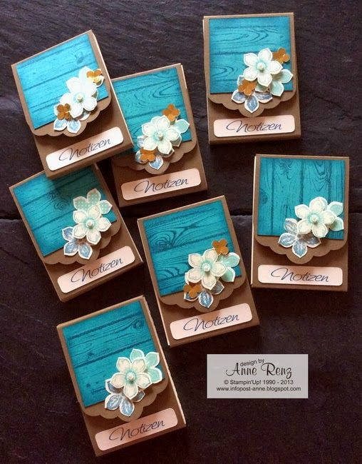 Stampin' Up! Petite Petals, hardwood, scalloped tag topper punch
