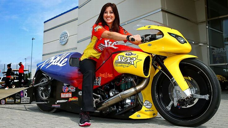 After retiring in 2010 to start a family, Angelle Sampey - a three-time Pro Stock Motorcycle series champion -- has returned to racing as competitive and popular as ever.