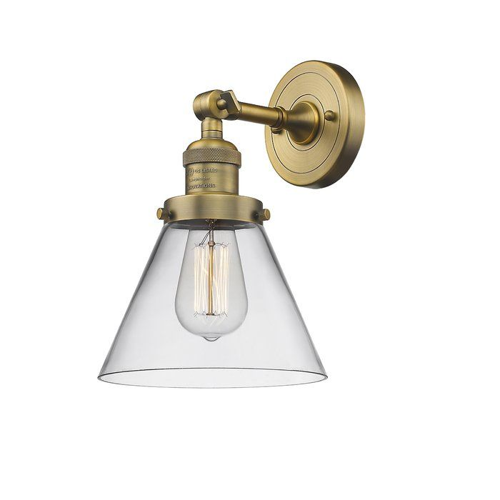 Louroukina 1 Light Dimmable Armed Sconce Vintage Led Bulbs Innovations Lighting Adjustable Sconce