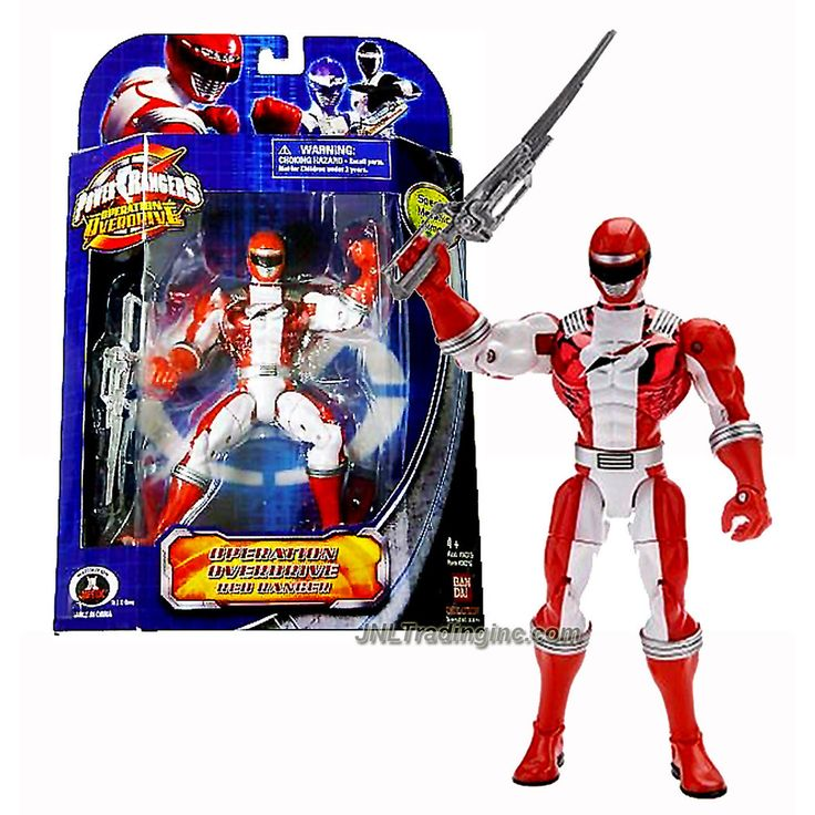 Bandai Year 2007 Power Rangers Operation Overdrive Series 7 Inch Tall Action Figure - Special Metallic Armor RED RANGER with Sword