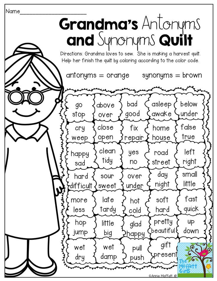 a fun way to review antonyms and synonyms