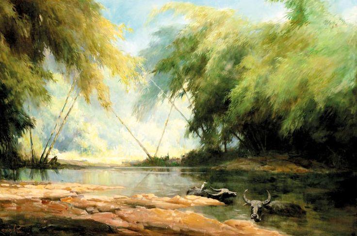 Basoeki Abdullah (Solo, 1915 – Jakarta, 1993) A Quiet Hour, 1976