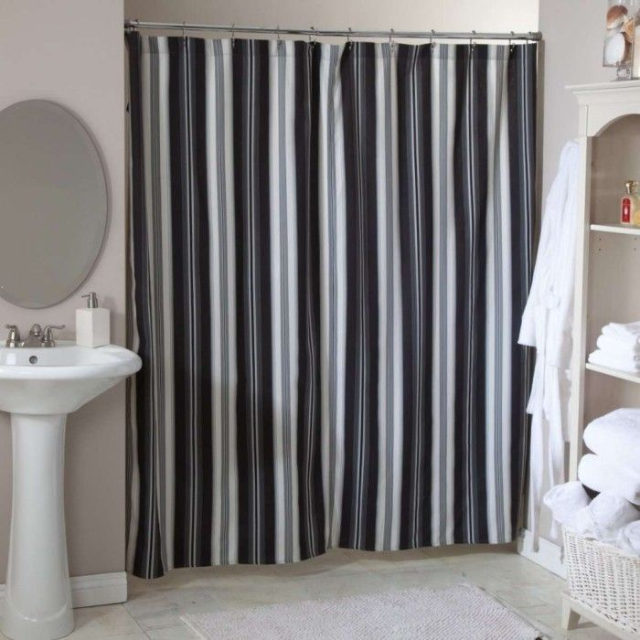 black and white striped shower curtain. black and white striped shower curtain for stylish bathroom r