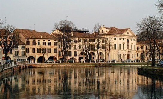 A cityscape of Treviso, Italy. one of 95 communities in Treviso Province, Italy.  Treviso Province was twinned with Sarasota, Florida in 2007.