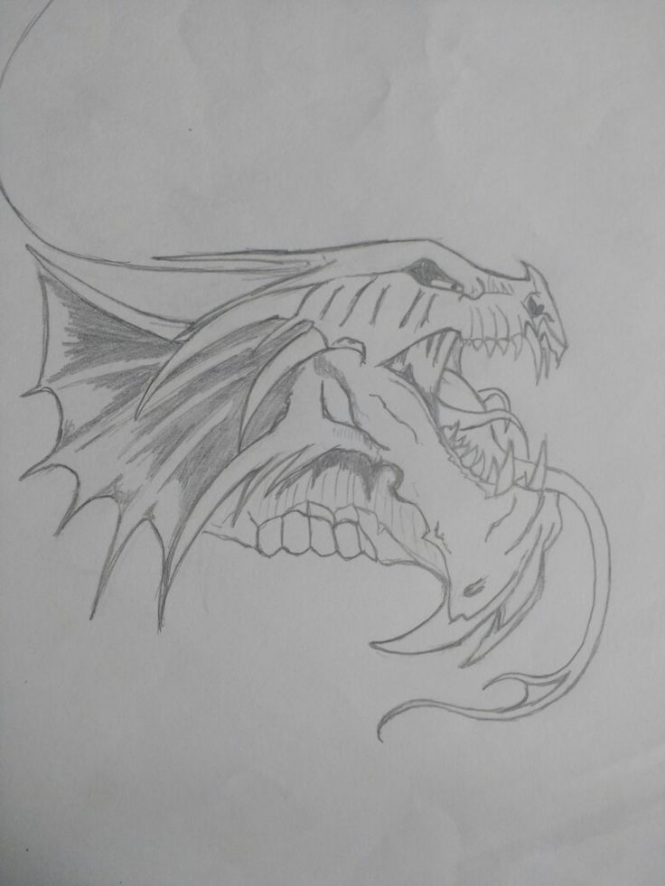 The dragón rises from the ashes it has sown #Drawings #Sketch #Dragon