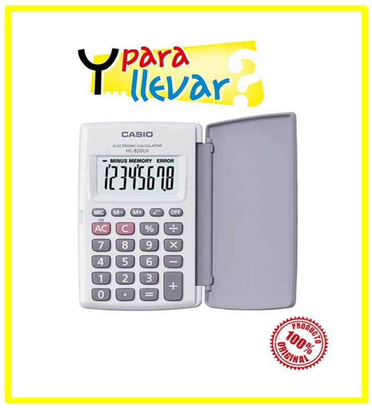 Calculadora CASIO Bolsillo HL 820LV-WE 8 dígitos Tipo portátil 7,5(Al) × 127(An) × 104(Pr) mm Blanco