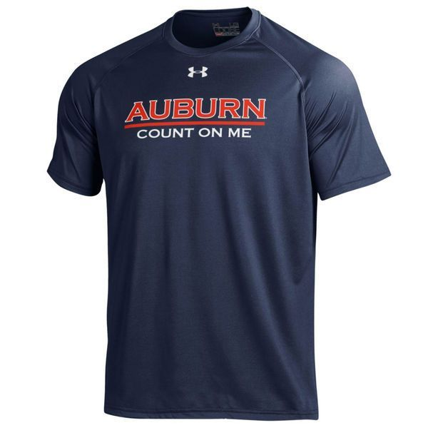 Auburn Tigers Under Armour Team Slogan Count On Me Tech T-Shirt - Navy - Fanatics.com