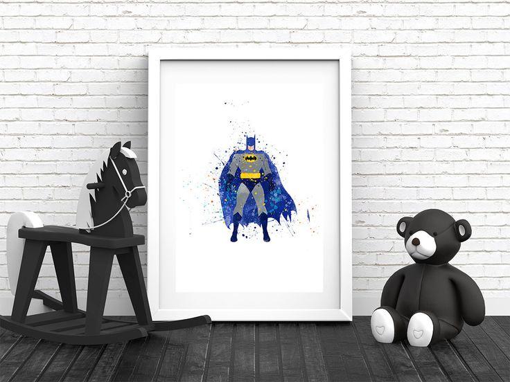Batman Poster, Batman Print, Batman Art, Batman Decor, Boys Artwork, Kids Poster, Batman Printable, Wall Art, Instant Download Art by colormykidsroom on Etsy https://www.etsy.com/uk/listing/485378051/batman-poster-batman-print-batman-art